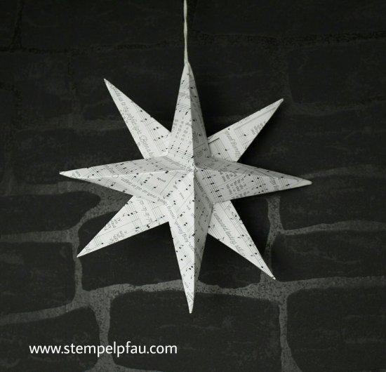 3D Stern mit dem Designerpapier von Stampin' Up! Bewerbung als Schauwand-Gestalterin für OnStage.