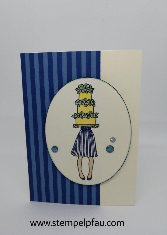 Geburtstagskarte gebastelt mit dem Stempelset Persönlich Überbracht von Stampin' Up!