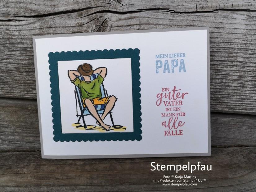 Karte zum Vatertag mit Stampin' Up!. Stempelset Mann O Mann