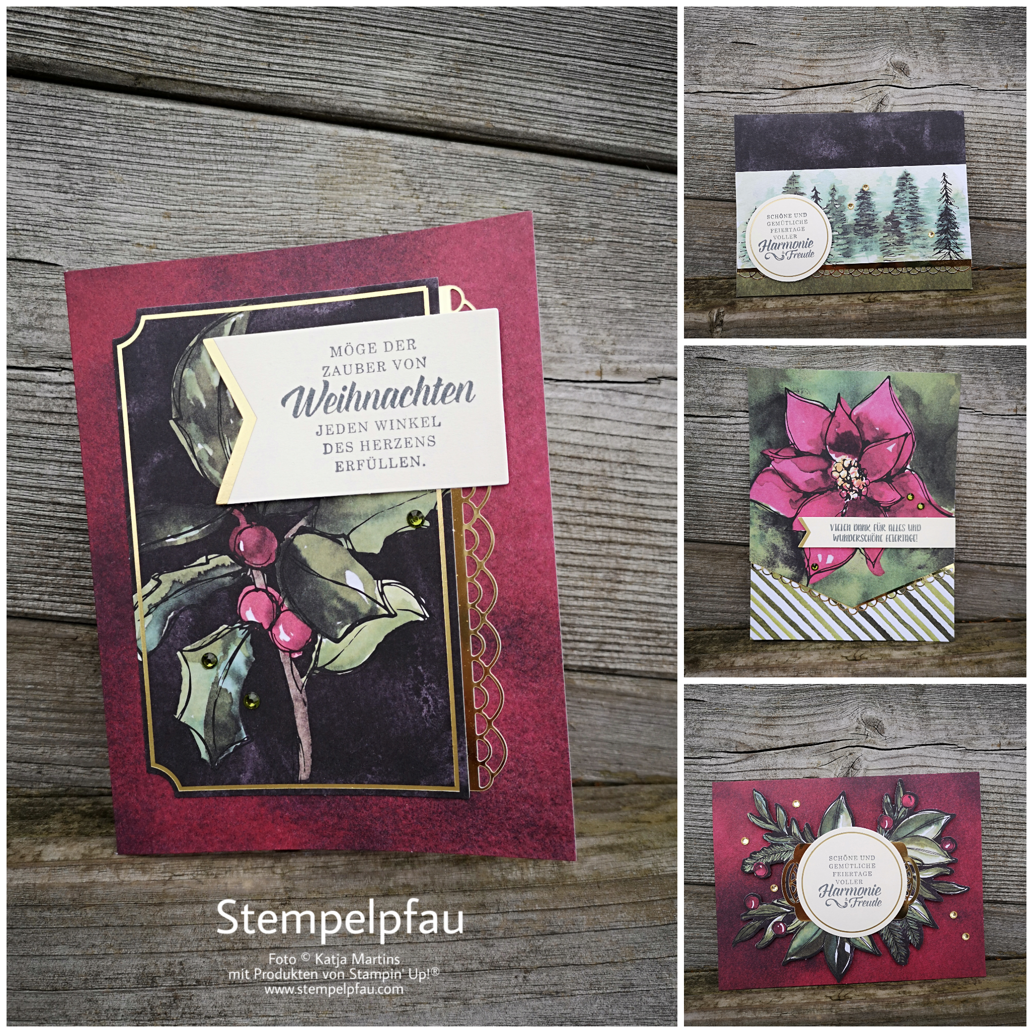 Karten gestaltet mit dem Projektset Zauber von Weihnachten von Stampin' Up!