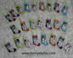 Adventskalender mit Stampin' Up! Produkten