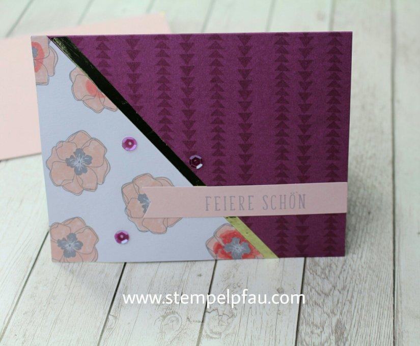 Projektset Farbenfroh von Stampin' Up!. Ich hab eine Geburtstagskarte gebastelt