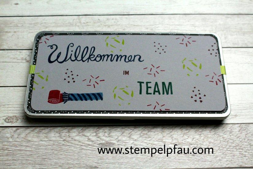 Willkommensgeschenk. Team Stempelpfau. Stampin' Up! verbindet