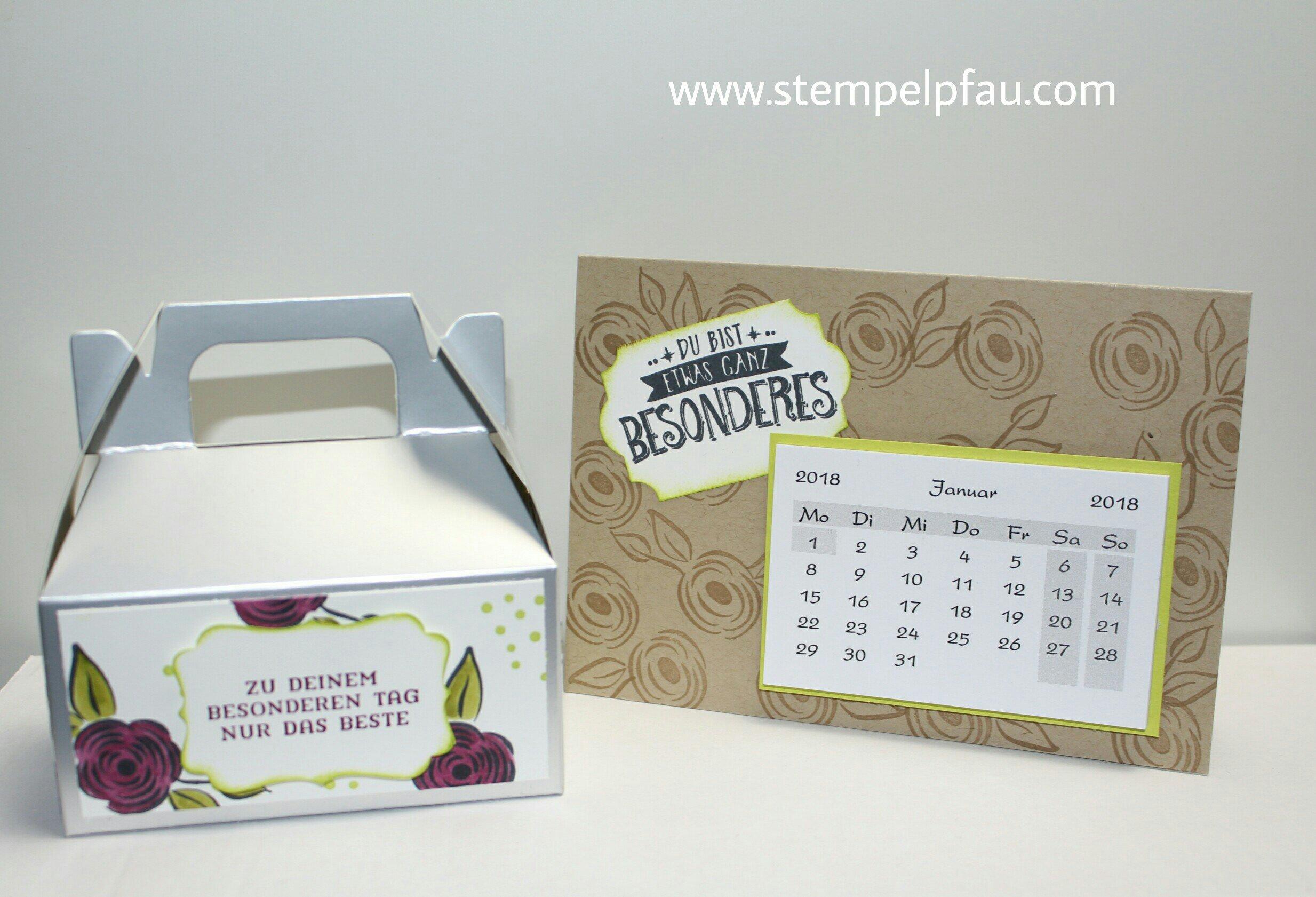 Blog-Hop Alle meine Geburtstagsgrüße Geschenkbox und Kalenderkarte