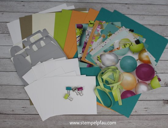 Materialpaket April mit Stampin' Up! Produkten