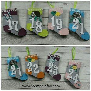 Adventskalender für die Schule Teil 3 mit Produkten von Stampin' Up!