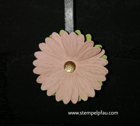 Gänseblümchen in der Farbe Puderrosa von Stampin' Up!, Tolle Wand Dekoration