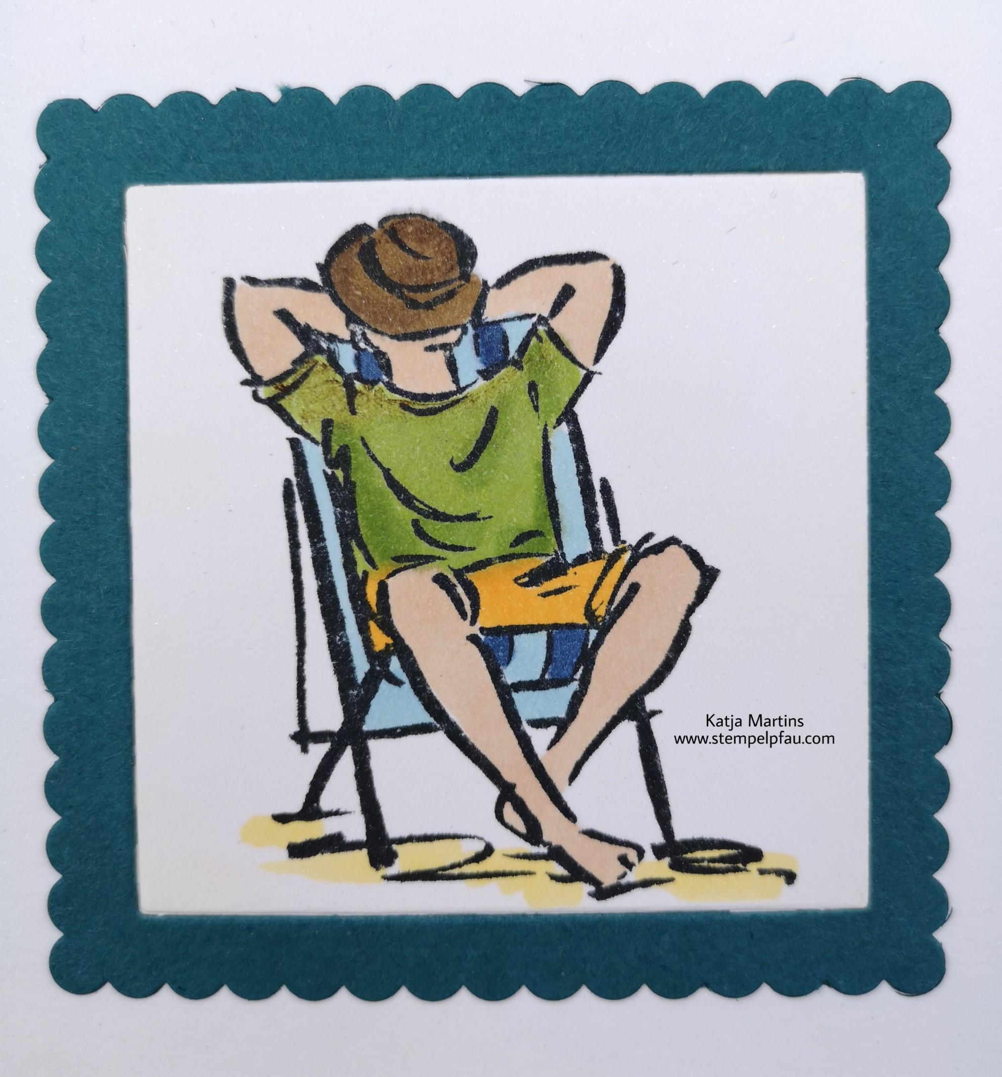 Stampin' Up! Stempelset Mann O Mann und die neuen InColor Pfauengrün, Rokoko Rosa und Rauchblau