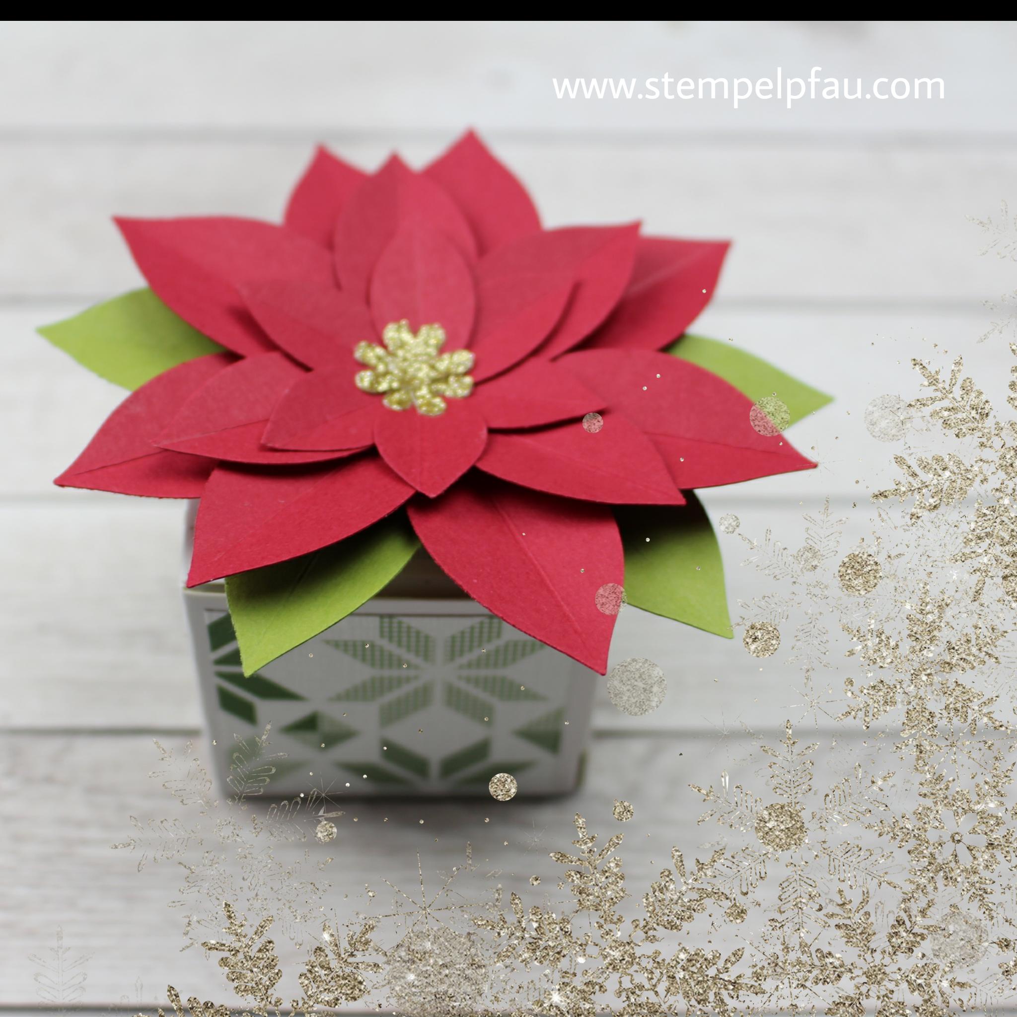 Weihnachtliche Dekoration mit der Elementstanze Festliche Blüte von Stampin' Up!