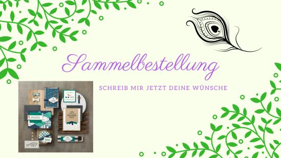 Sammelbestelltermine für Stampin' Up! Schick deine Wünsche an stempelpfau@web.de