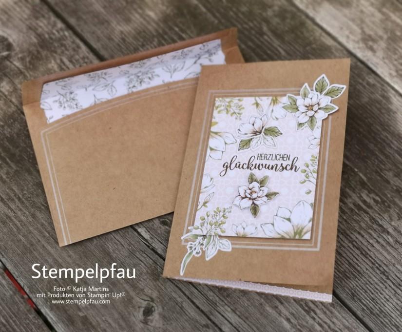 Geburtstagskarte mit dem Kartenset Erinnerungen und Mehr Magnolienweg von Stampin' Up!