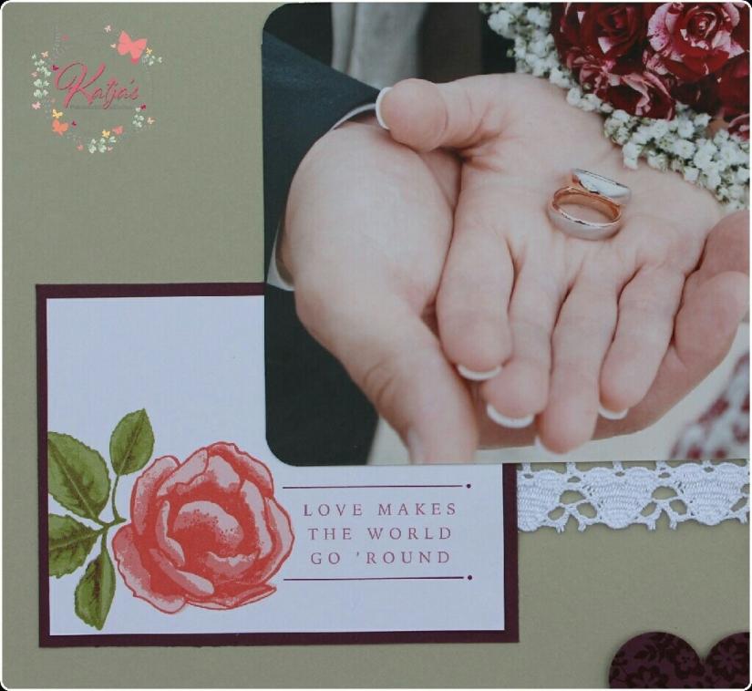 Stampin' UP!, Scrapbooking, Hochzeit, Rose