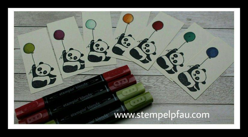 Sale-a-Bration Set Panda. Sind die nicht süß. Stampin' Up!
