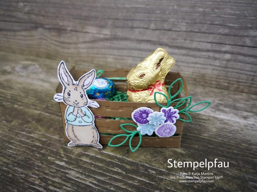 Osterkörbchen mit den Produkten von Stampin' Up! - Stempelpfau