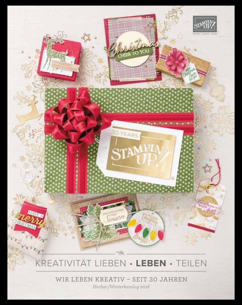 Herbst-/Winterkatalog von Stampin' Up! Online Katalogparty Designerpapier Share