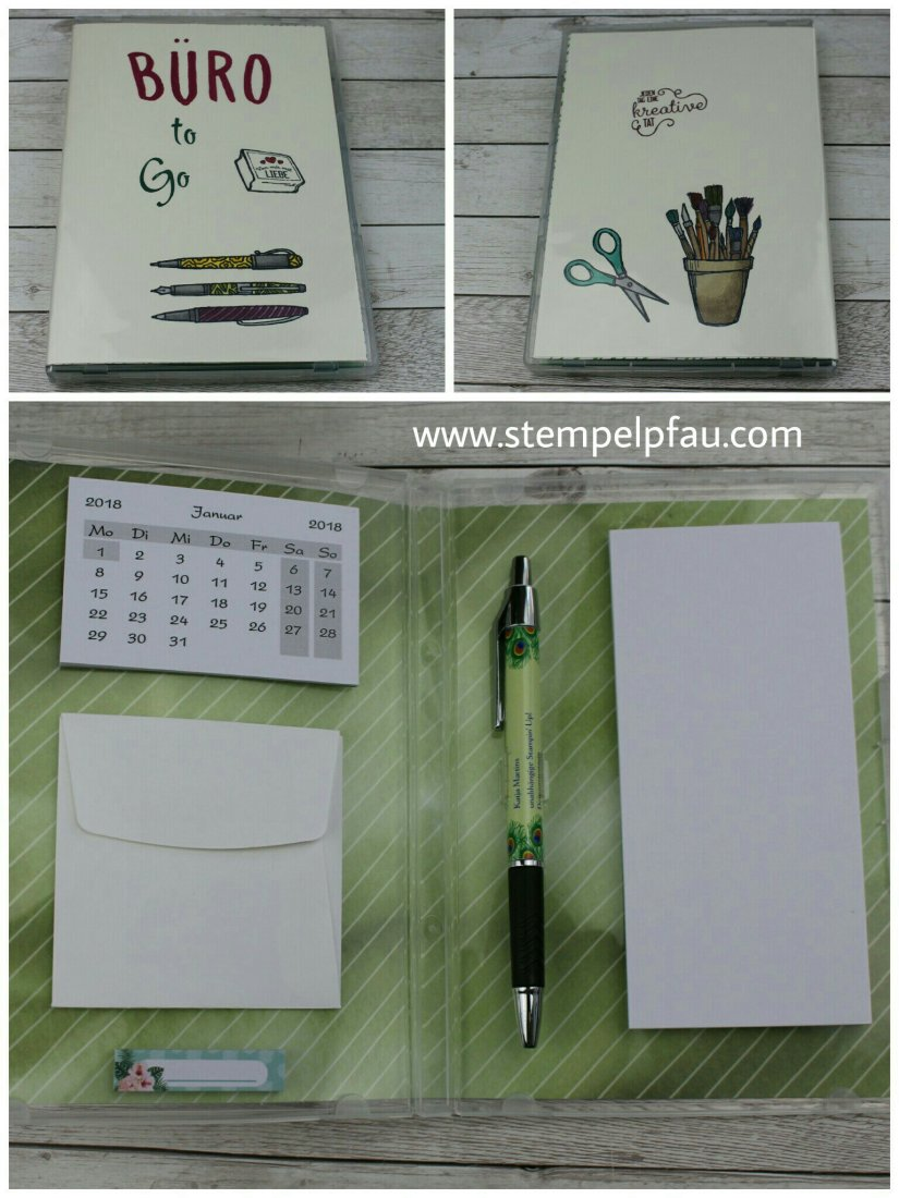 Büro to Go, DIY Projekt coloriert mit den Stampin' Blends von Stampin' Up!