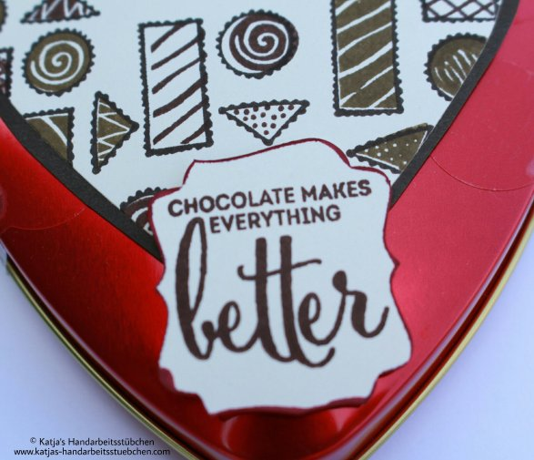 Verpackung Schokolade Stampin' Up! Challenge Familyandfriends
