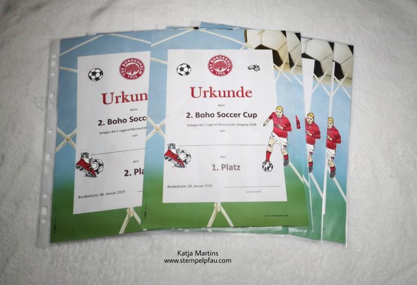 Urkunde, Fußball, Stampin Blends, BoHo Soccer Cup