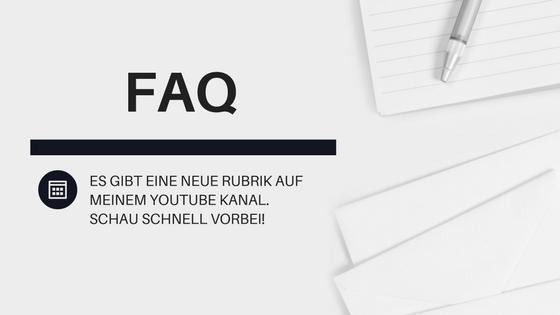 Fragen und Antworten (FAQ) Rubrik auf dem YouTube Kanal von Stempelpfau. Mein Leben mit den Produkten von Stampin' Up!
