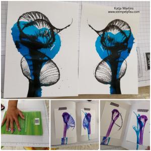 Tinte Faden und Papier. Kunstwerke bei Kreativ mit Kids