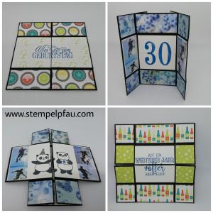 Endloskarte zum Geburtstag mit Fußball Thema. Aus Produkten von Stampin' Up! und anderen Herstellern.