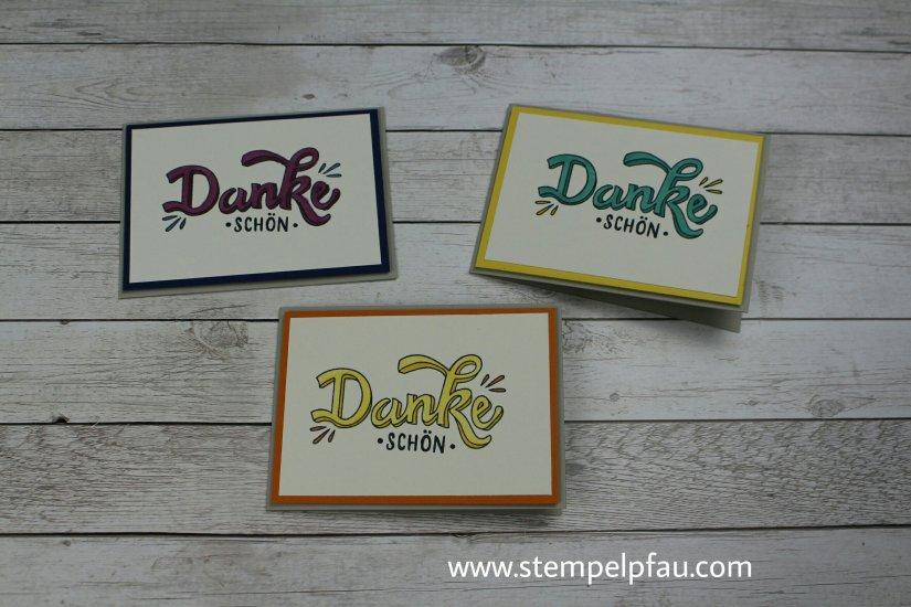 Dankeschön Karten mit Stampin' Up! Produkte