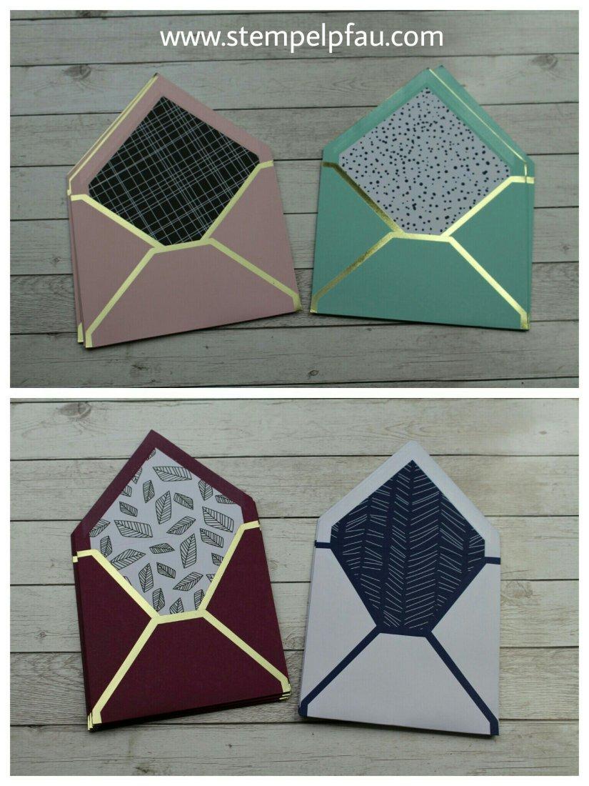 4 Umschläge je Design. ProjektSet Farbenfroh von Stampin' Up!
