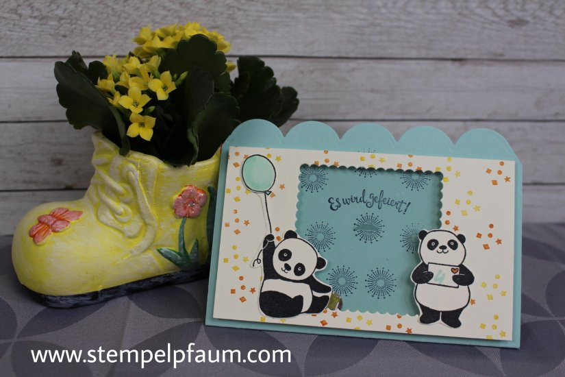 Einladungskarten mit dem Sale-a-Bration Set Party Pandas