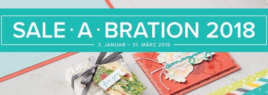Die Sale-a-Bration von Stampin' Up! hat begonnen. Hole dir jetzt deine Gratisprodukte.