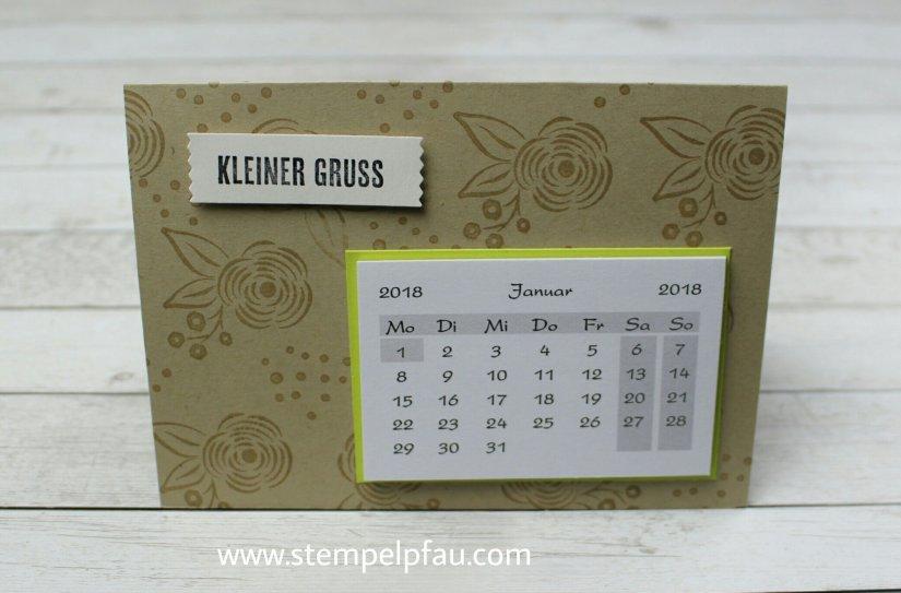 Kalenderkarte mit Produkten aus dem neuen Frühjahr-/ Sommerkatalog von Stampin' Up!