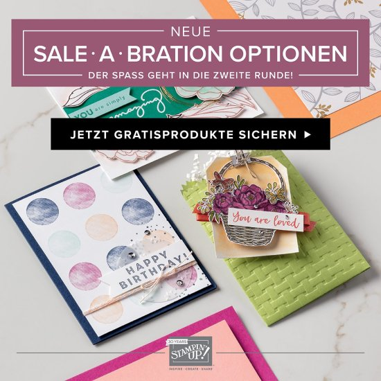 Sale-a-Bration 2018, Stampin' Up!, Gratisprodukte
