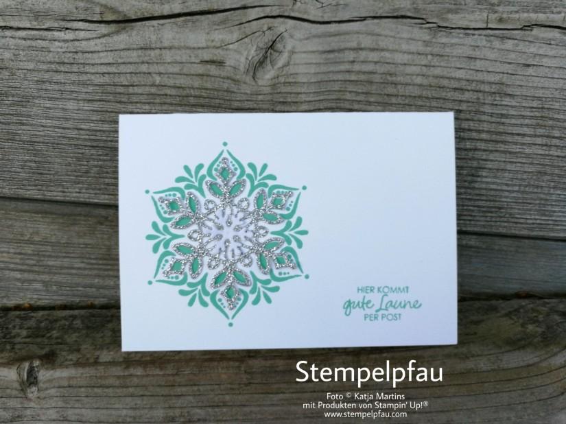 BlogHop Dankeskarte fast Monochrom mit Produkten von Stampin' Up!