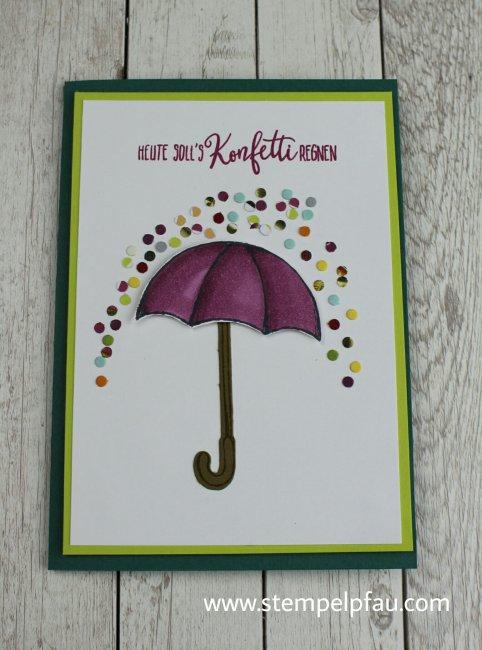 Bewerbung als Schauwandgestalterin. Eins meiner Kartenprojekte mit den Produkten von Stampin' Up!