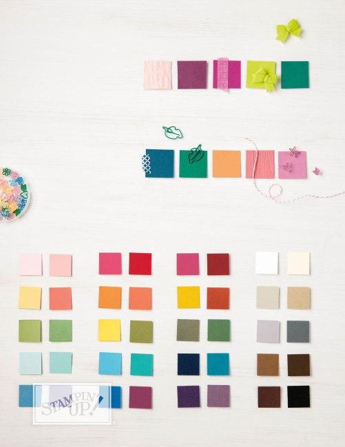 Stampin' Up! Starterpakete, Alle Farben auf einen Blick