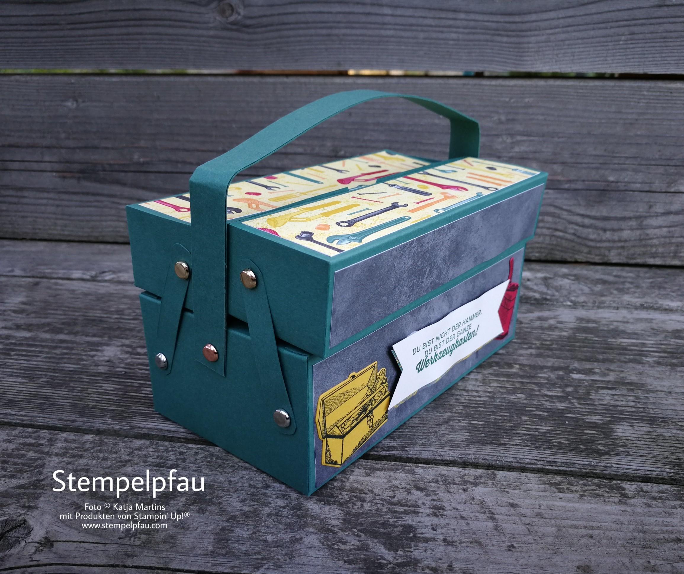 Werkzeugkasten mit Produkten von Stampin' Up!