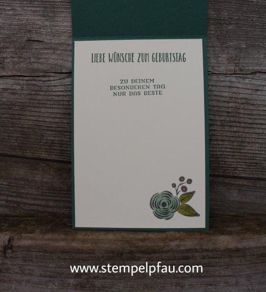 Geburtstagskarte mit Produkten von Stampin' Up! mit dem Stempelset Alle meine Geburtstagsgrüße