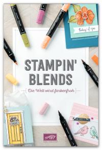 Broschüre zu den Stampin' Blends. Die neuen Alkoholmarkern von Stampin' Up!.