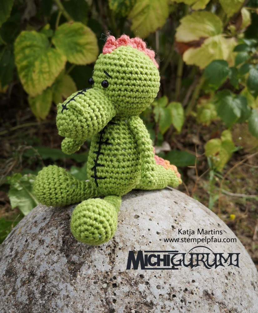 Probehäkeln für Michigurumi - Mini Krokodil