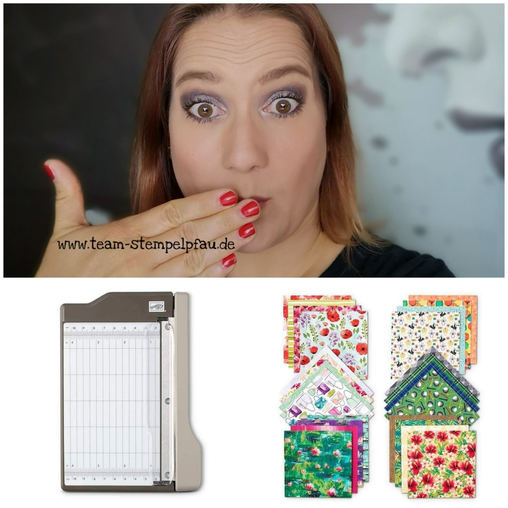 Einsteigerangebot mit Mini-Papierschneider und Musterpaket Designerpapier