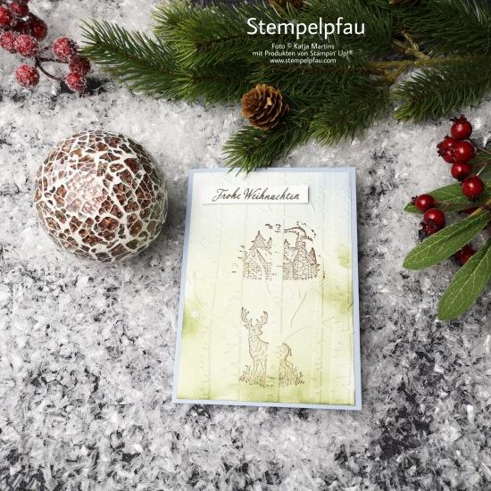 Stampin' Up! Stempelpfau - Karte